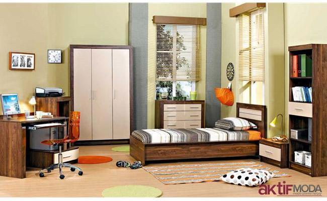 Çilek Kahverengi Genç Odası Modeli