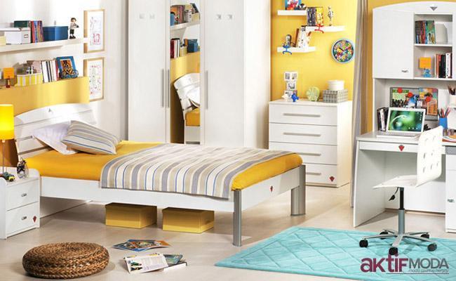 Çilek Sarı Genç Odası Modeli