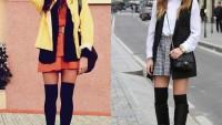 Modacılardan Dizüstü Çorap Kombinleri