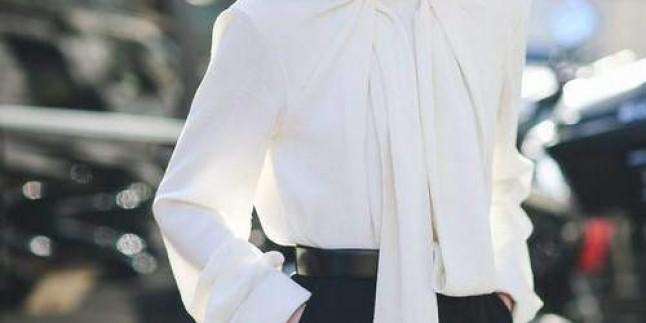 Fular Yaka Bluz Modelleri Çok Moda