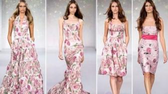Çiçek Desenli Abiye Elbise Modelleri