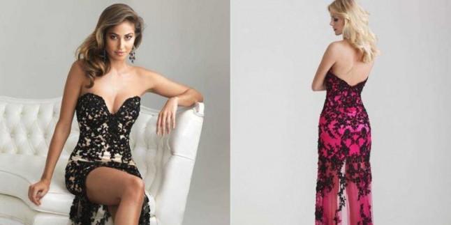Dekolteli Abiye Elbise Modelleri