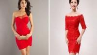 Kısa Kırmızı Abiye Elbise Modelleri