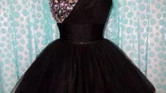Siyah Kısa Abiye Elbise Modelleri
