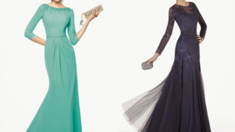 Kollu Abiye Elbise Modelleri