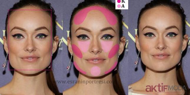 Yüz Hatlarını Belli Edecek Makyajlar