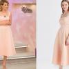 Pudra Rengi Elbise Modelleri