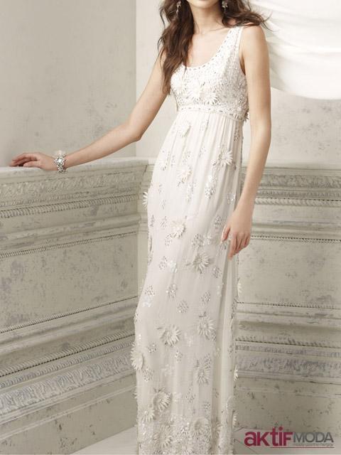 Askılı Kır Düğünü Elbise Modeli
