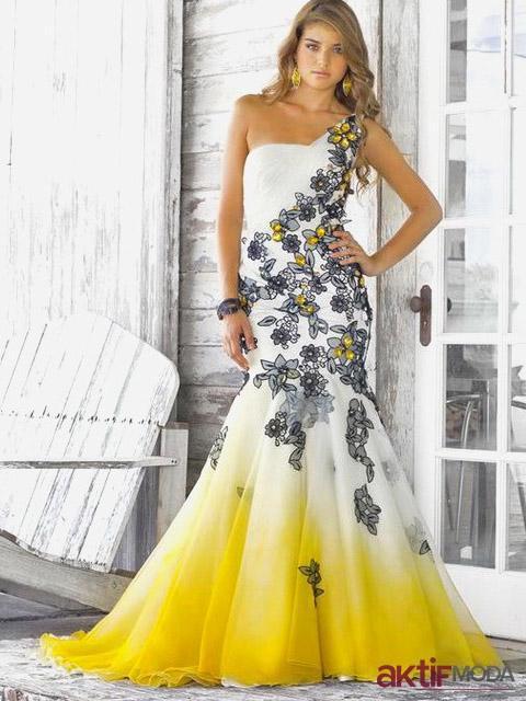 Balık Etek Kır Düğünü Elbise Modeli