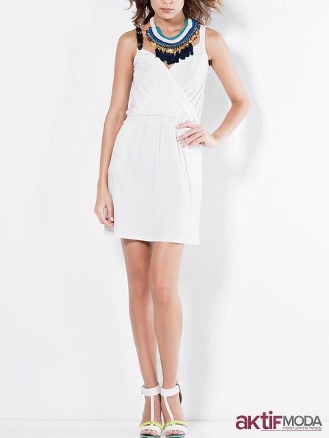 Beyaz Mini Kır Düğünü Elbise Modeli