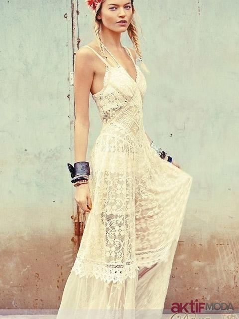 Bohem Kır Düğünü Elbise Modeli