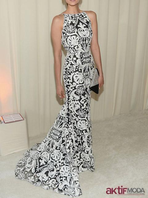 Desenli Kır Düğünü Elbise Modeli