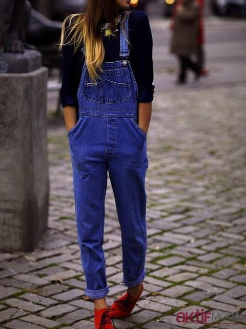 Koyu Mavi Bahçıvan Pantolon Modelleri