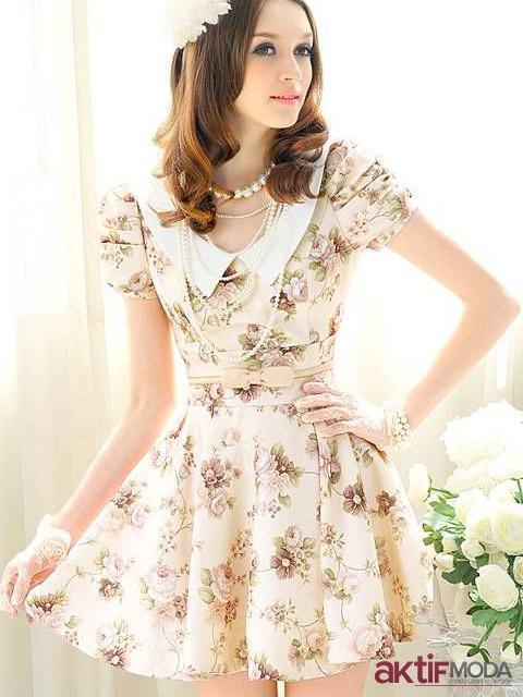 Romantik Kır Düğünü Elbise Modeli