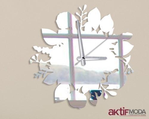 Dekoratif Saatli Ayna Modelleri
