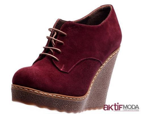 Dolgu Topuklu Kışlık Bayan Ayakkabı Modelleri