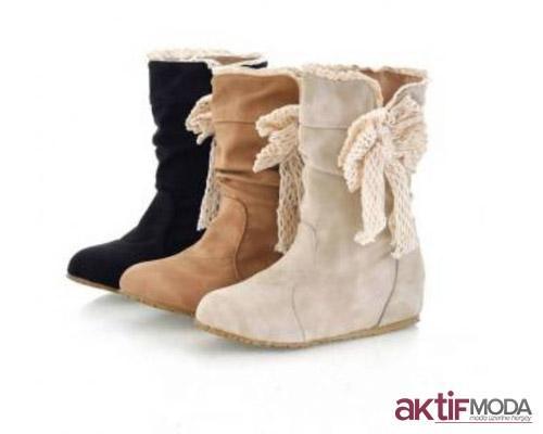 Kurdeleli Kışlık Bayan Ayakkabı Modelleri