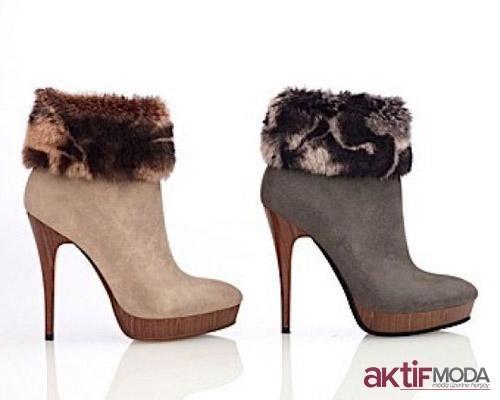 Kürklü Kışlık Bayan Ayakkabı Modelleri