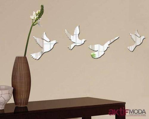 Kuş Şekilli Dekoratif Ayna Modelleri