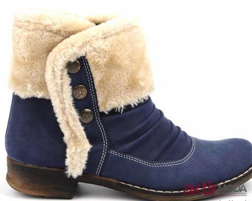 Lacivert Kışlık Bayan Ayakkabı Modelleri