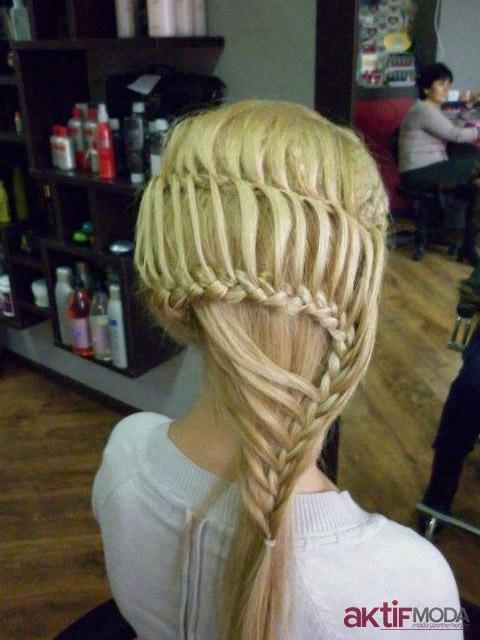 Sepet Örgü Saç Modelleri