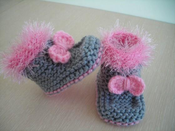 Bebek Örgü Patik Modelleri