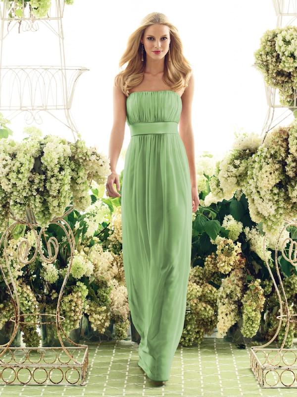 Kır Düğünü Yeşil Abiye Modelleri