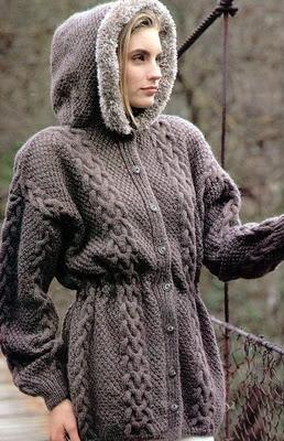 Örgü Kışlık Bayan Hırka Modelleri