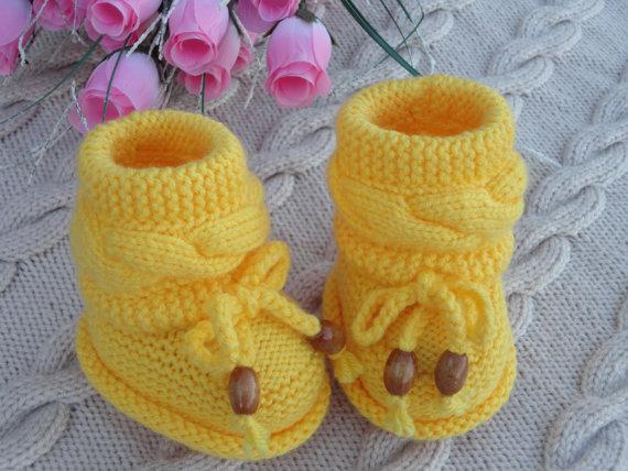 Örme Bebek Patik Modelleri
