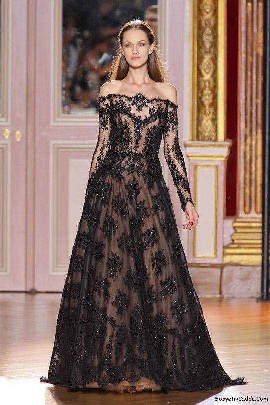 Uzun Dantel Elbise Modelleri