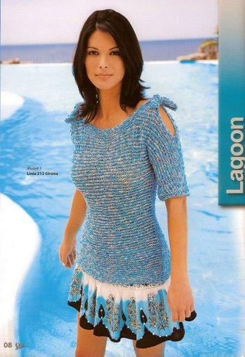 f663b7e9aed1b örgü elbise modelleri mavi - Aktif Moda - Aktif Moda