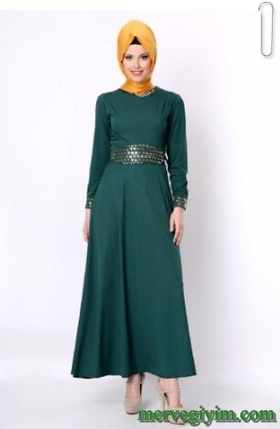 80c45b40eb573 Tozlu Giyim Tesettür Elbise Modelleri - Aktif Moda