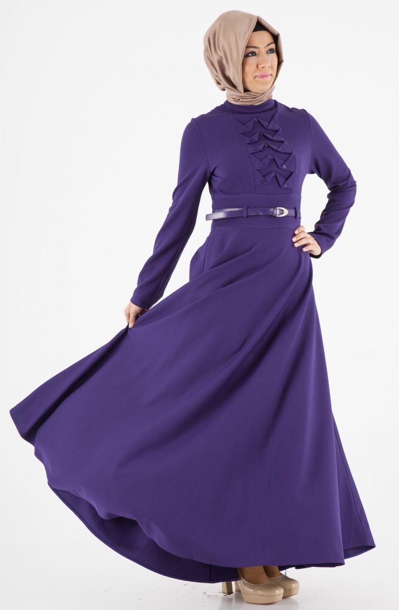 Tozlu Tesettür Elbise Modelleri