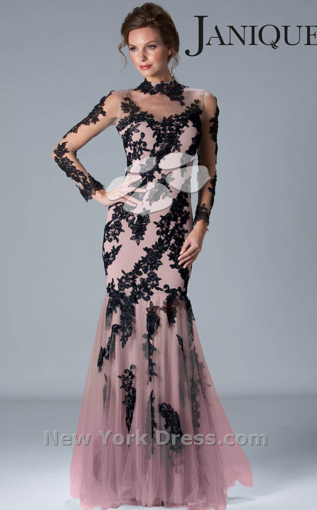 Siyah Dantelli Uzun Abiye Modelleri 2019