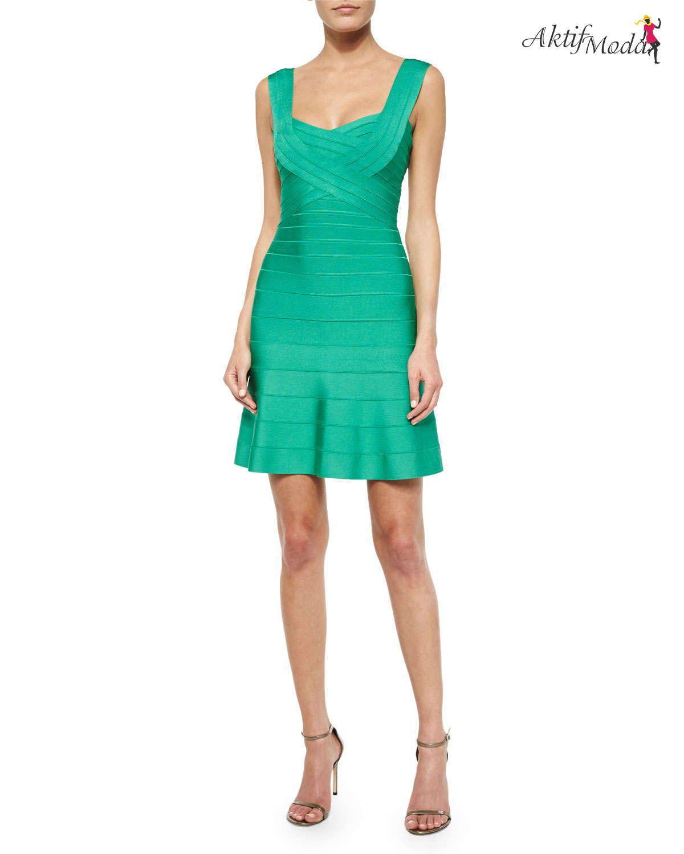 4049c2cfa01ed Yeşil askılı kısa elbise modelleri - Aktif Moda - Aktif Moda
