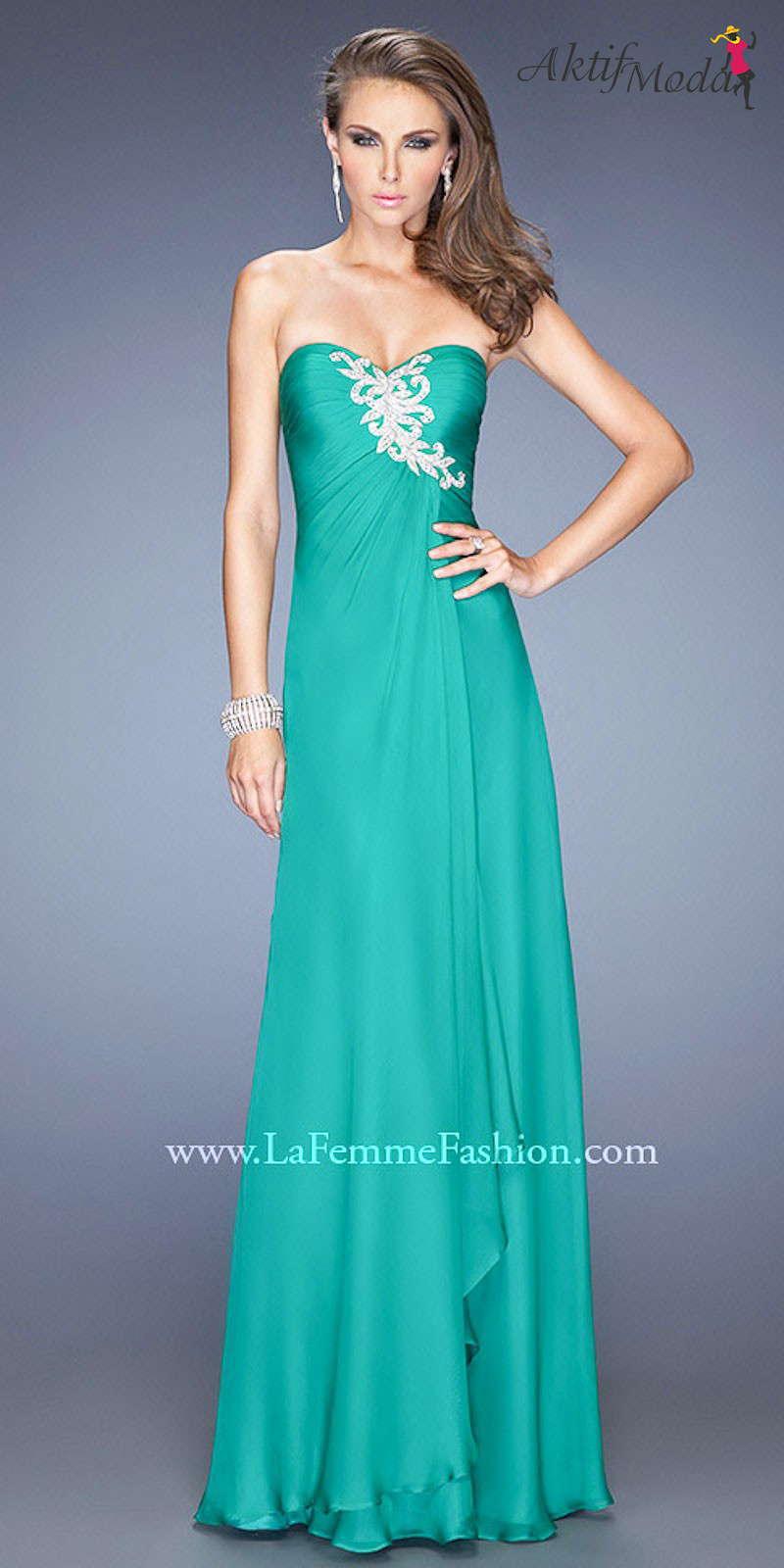 552ba5f0ce8c6 Yeşil Elbise Modelleri 2015 - Aktif Moda