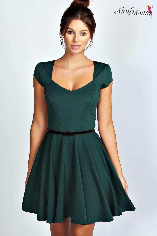 cce6697bdaca8 Yeşil elbise modelleri mini - Aktif Moda - Aktif Moda