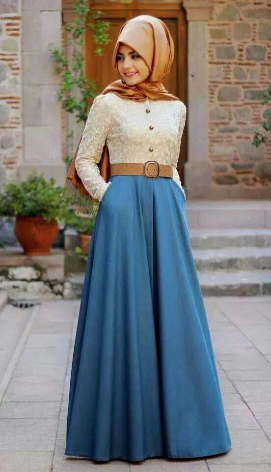 a541d55bdb080 Değişik tesettür elbise modelleri - Aktif Moda - Aktif Moda