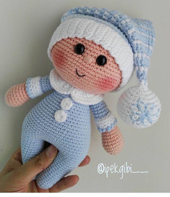 Amigurumi Bebek Tarifi : Amigurumi �rg� k z bebek oyuncak tarifi