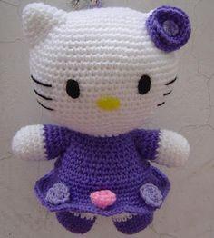 Yaseminkale: hello kitty yapılışı, amigurumi free pattern hello kitty | 262x236