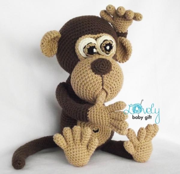 Amigurumi Monkey-Free Pattern | Patrones amigurumi, Juguetes de ... | 581x600