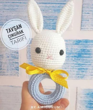 Amigurumi Tavşan Ailesi Yapımı - Örgü Modelleri | 459x389