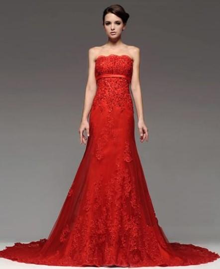 Kırmızı Abiye Modelleri9