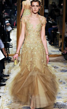 Altın Abiye Elbise Modelleri