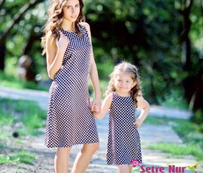 Anne Kız Elbise Modelleri