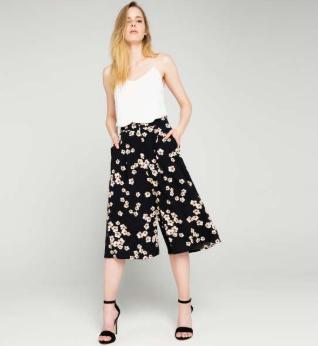 Baskılı Culotte Pantolon Modelleri