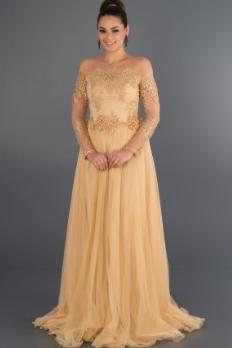 Gold Abiye Elbise
