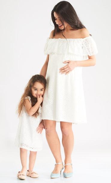Hamile Anne Kız Elbisesi