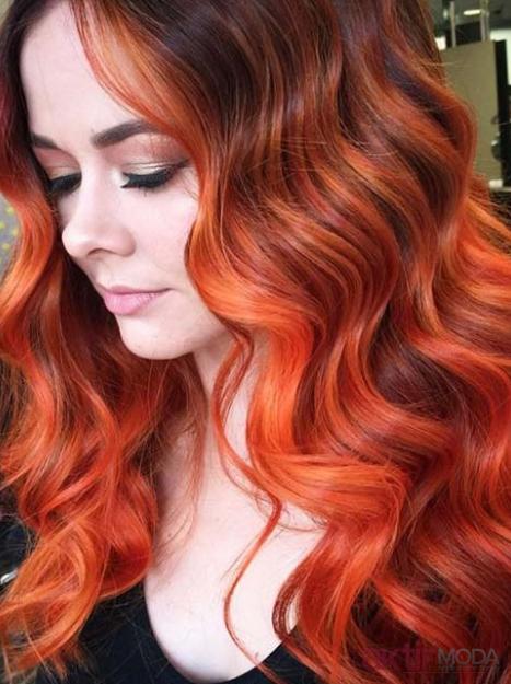 Kına İle Kızıl Bakır Saç Rengi