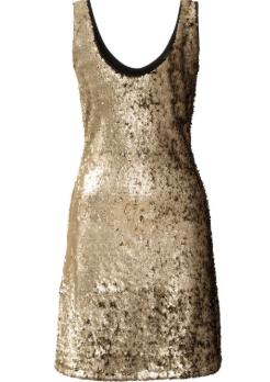 Kısa Gold Abiye Elbiseler